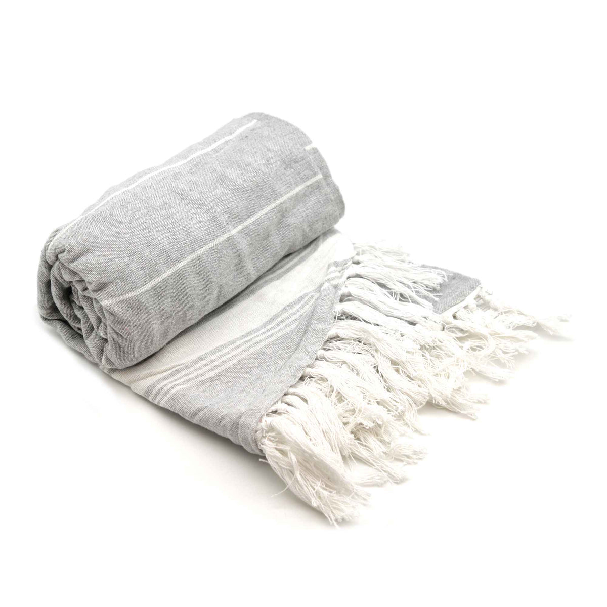 Nicola Spring Round Turkish Beach Towel - Grey