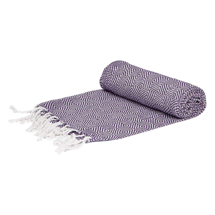 Nicola Spring Turkish Cotton Towel - Diamond - Violet