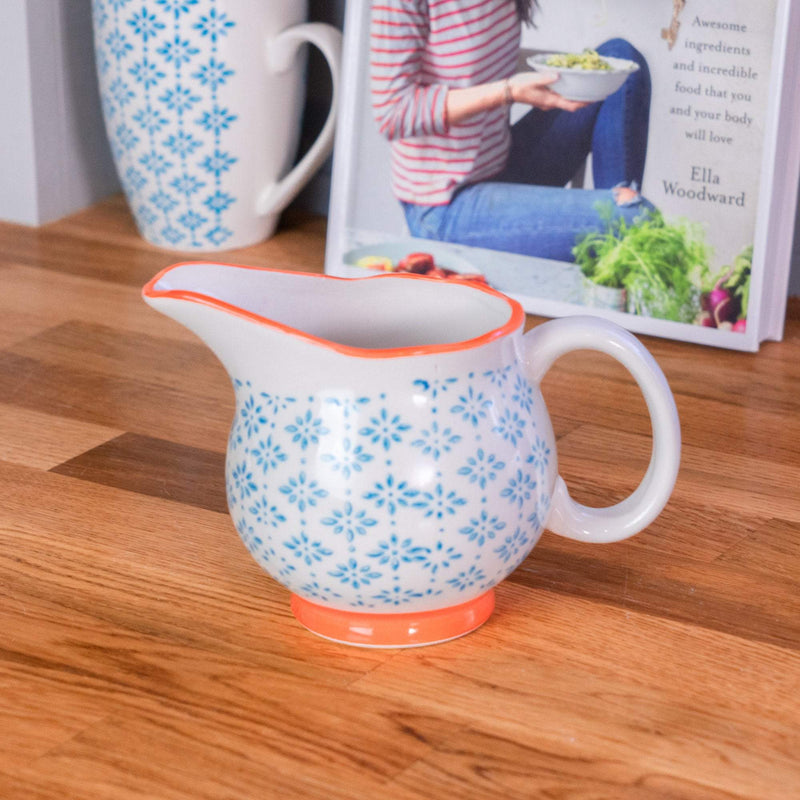 Nicola Spring Patterned Milk and Gravy Jug - Blue and Orange