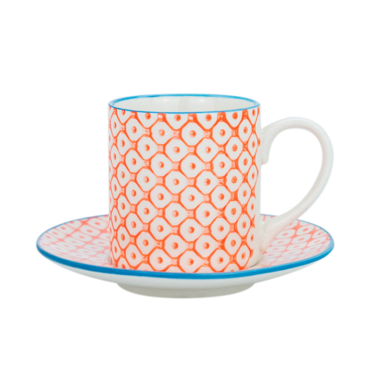 Nicola Spring Espresso Cups and Saucers