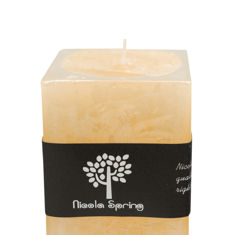 Nicola Spring Vanilla Scented Square Candle - Single Wick - 90hrs Burning Time
