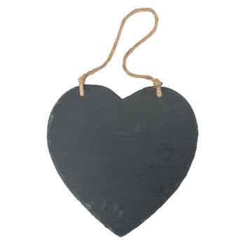 Nicola Spring Large Heart Hanging Slate Notice and Menu Board