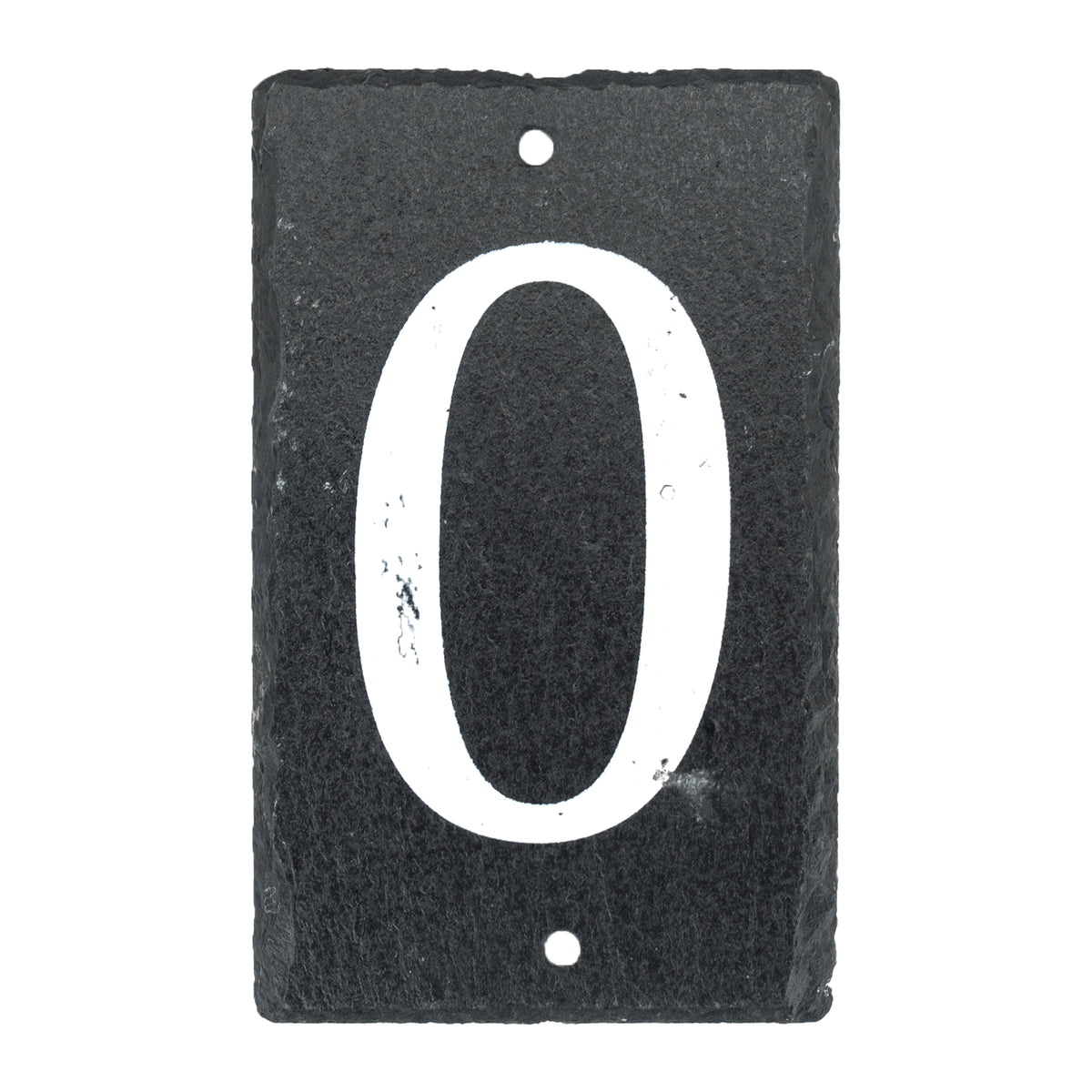 Nicola Spring Natural Slate House Sign - Number 0