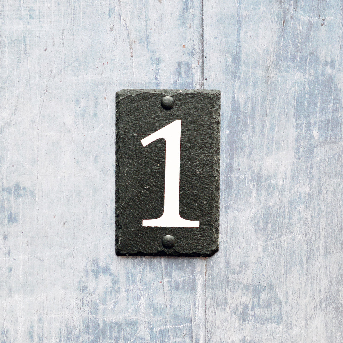 Nicola Spring Natural Slate House Sign - Number 1