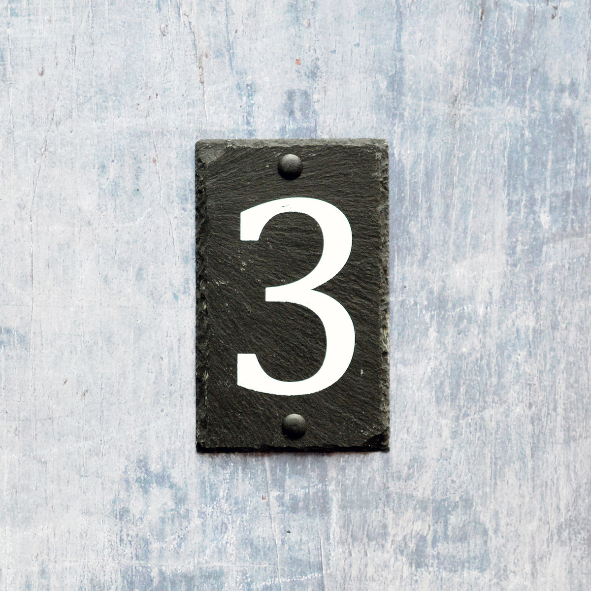 Nicola Spring Natural Slate House Sign - Number 3