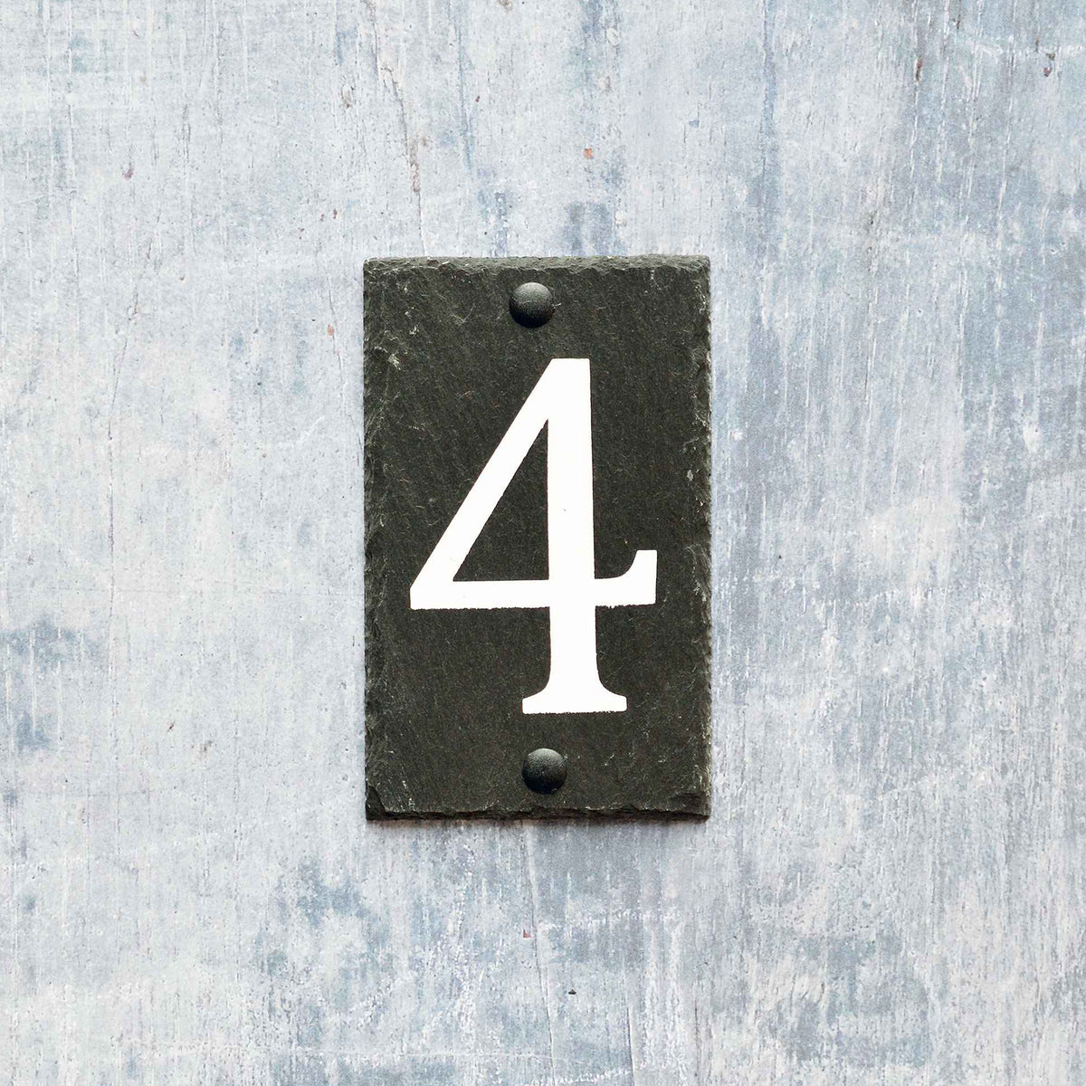 Nicola Spring Natural Slate House Sign - Number 4