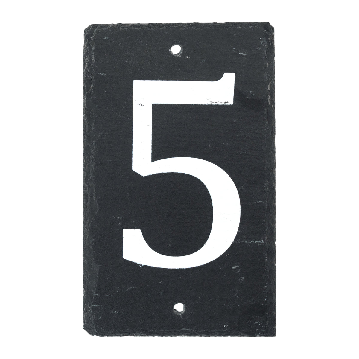 Nicola Spring Natural Slate House Sign - Number 5