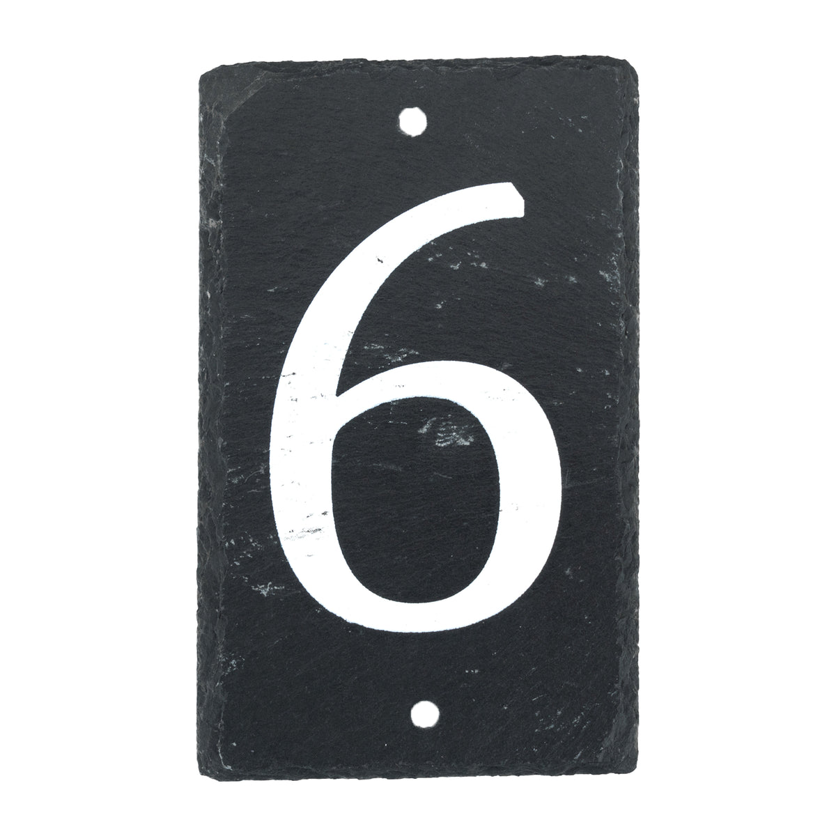 Nicola Spring Natural Slate House Sign - Number 6