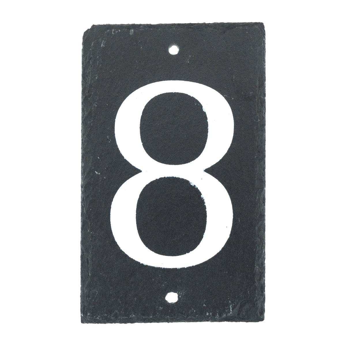 Nicola Spring Natural Slate House Sign - Number 8