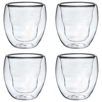 Rink Drink Thermo Insulated Hot Drinking Glasses - Pack of 4