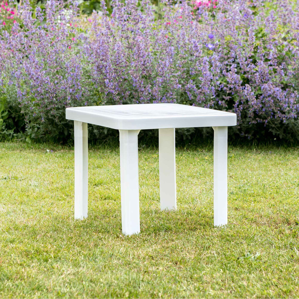 Resol Andorra Sun Lounger Side Table - White