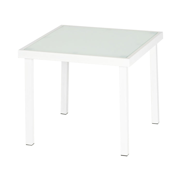Harbour Housewares Sussex Garden Side Table - White