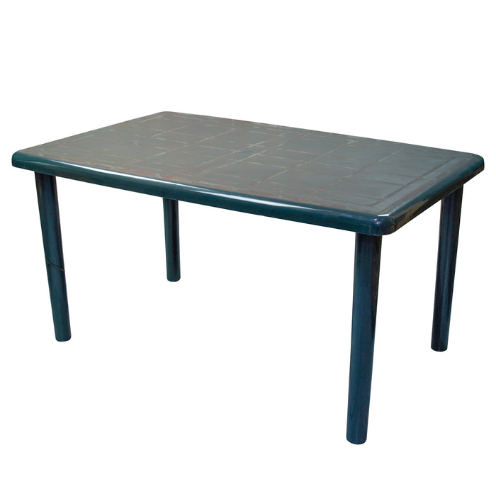 Resol Olot Outdoor Rectangular Garden Table - Green Plastic - 140 x 90cm