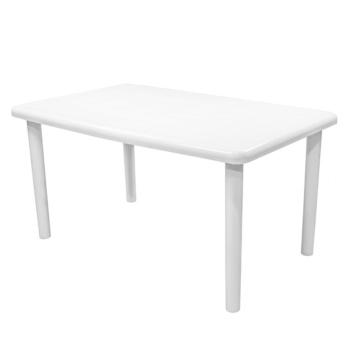 Resol Olot Outdoor Rectangular Garden Table - White Plastic - 140 x 90cm