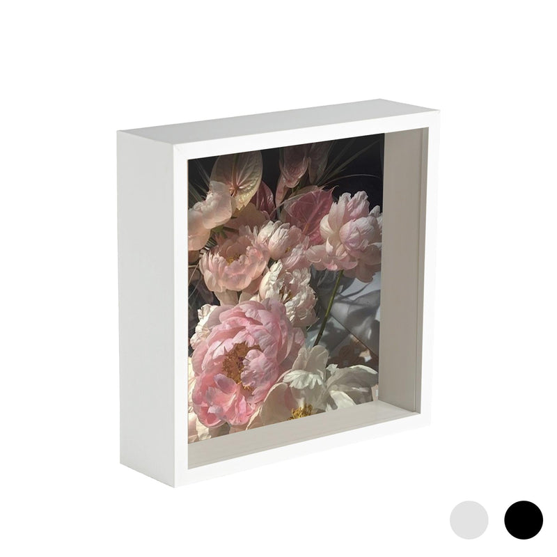 Nicola Spring Deep Box Photo Frame - 6 x 6 - White