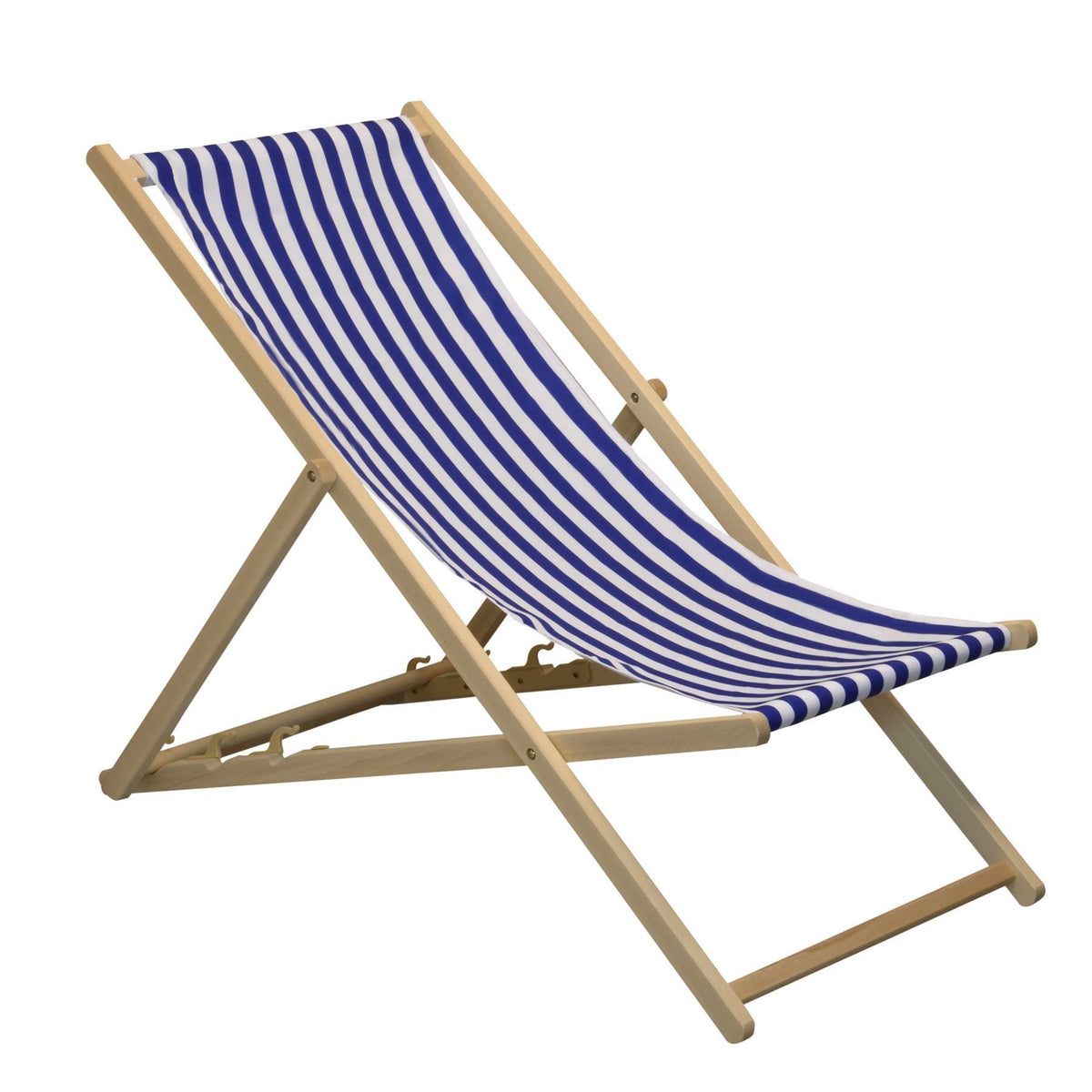 Harbour Housewares Garden Deck Chair Beach Style - Blue/White