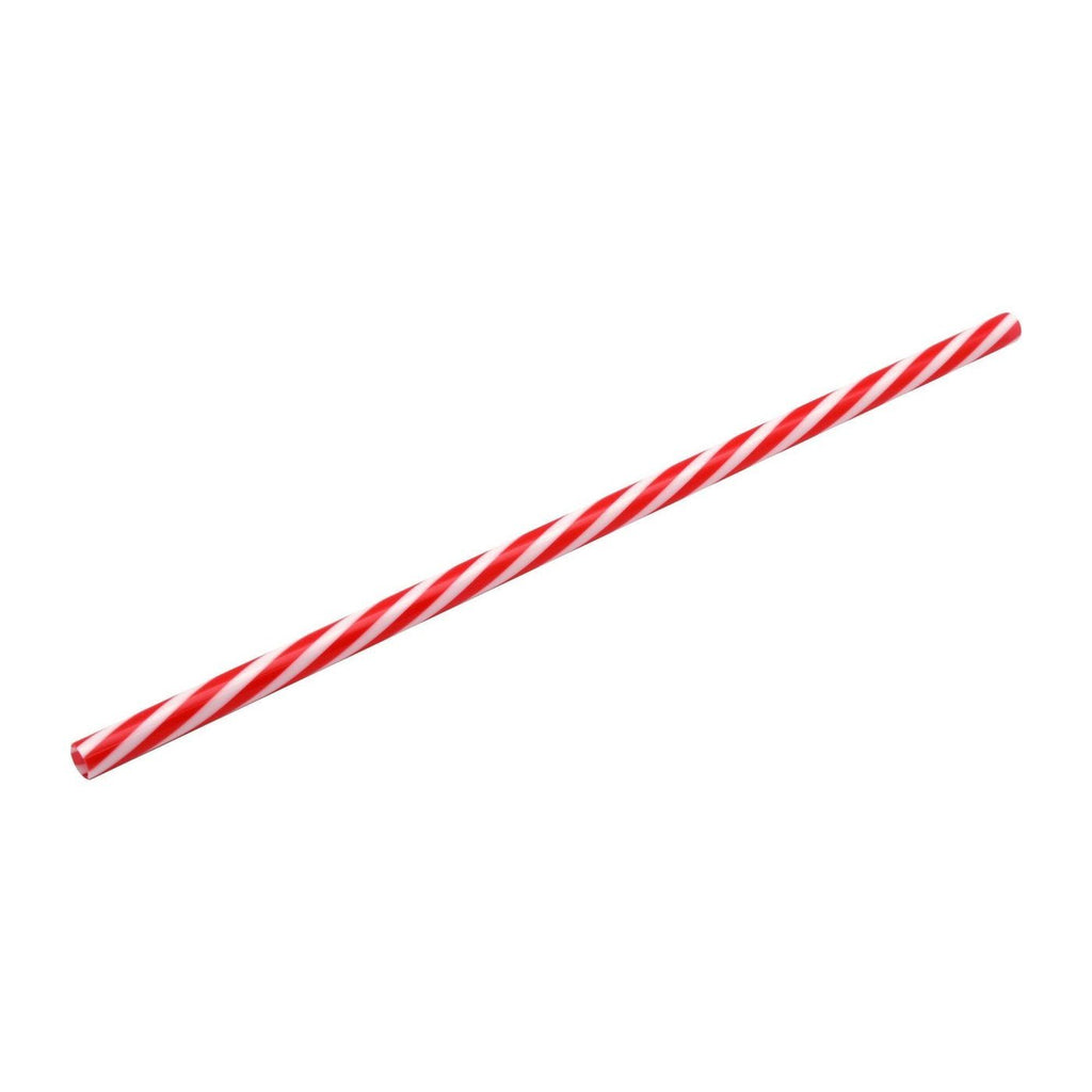 Rink Drink American Red Striped Plastic Drinking Straws