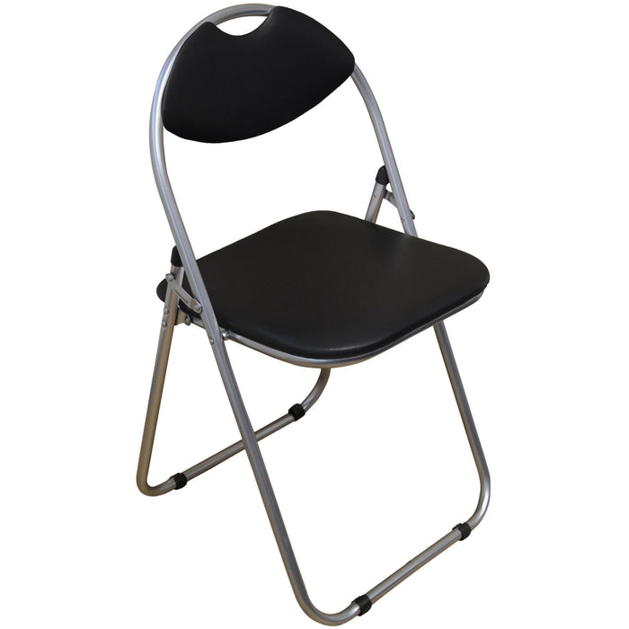 Harbour Housewares Black Padded, Folding, Desk Chair