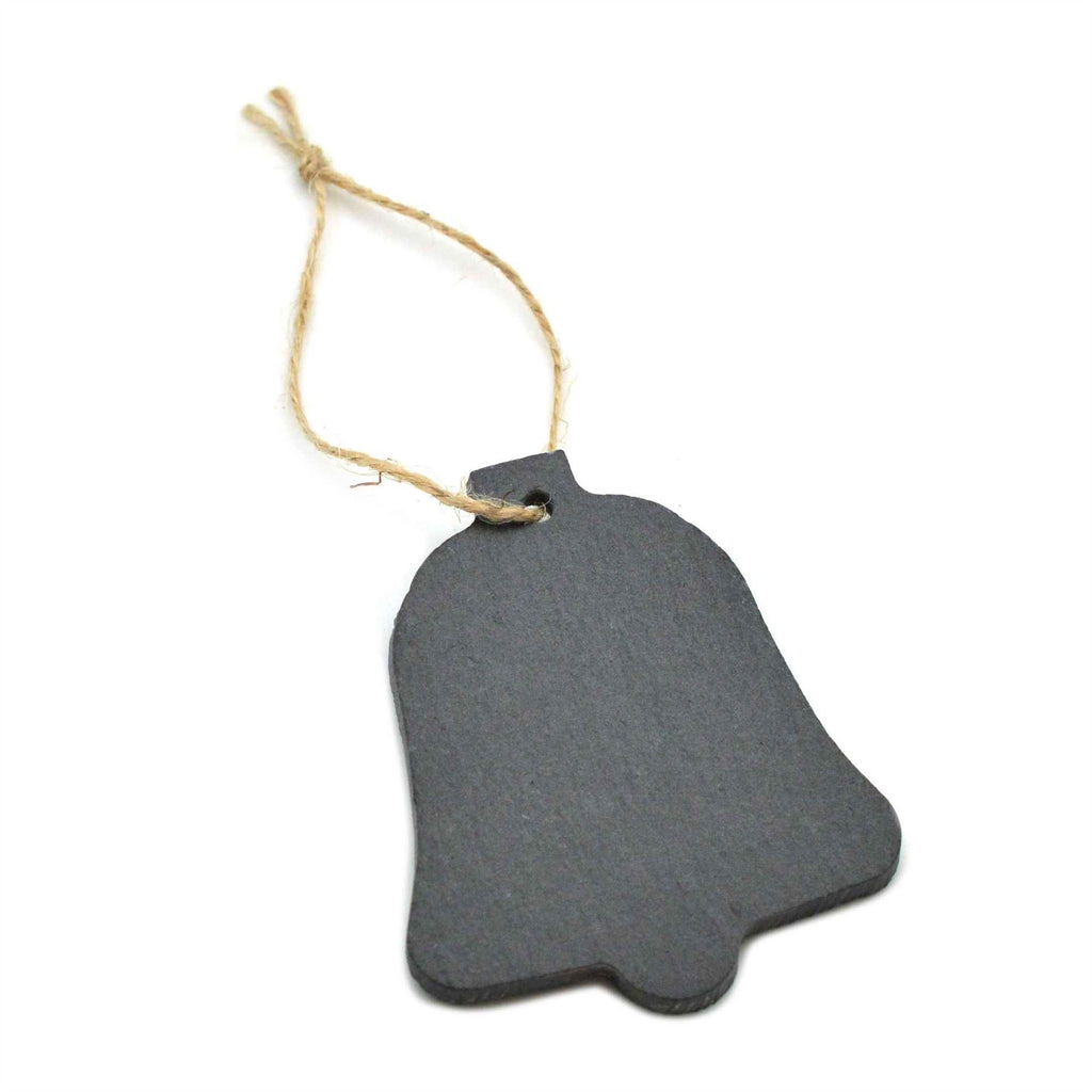 Nicola Spring Christmas Tree Hanging Slate Decoration - Bell Design