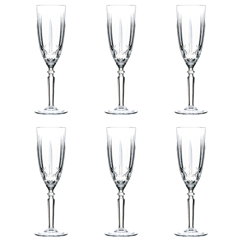 RCR Crystal Orchestra Cut Glass Champagne Flute - 200ml