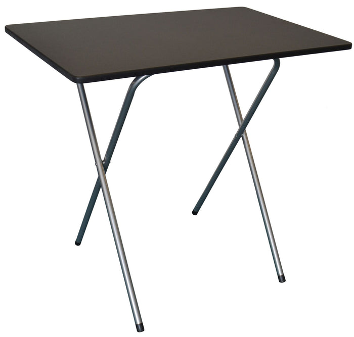 Harbour Housewares Folding Computer Desk - Black and Silver