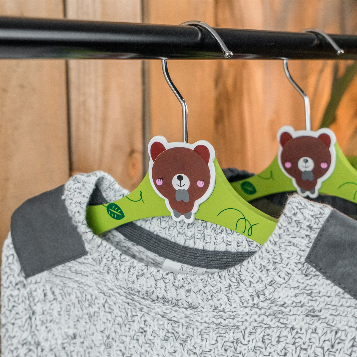 childrens wooden coat hangers
