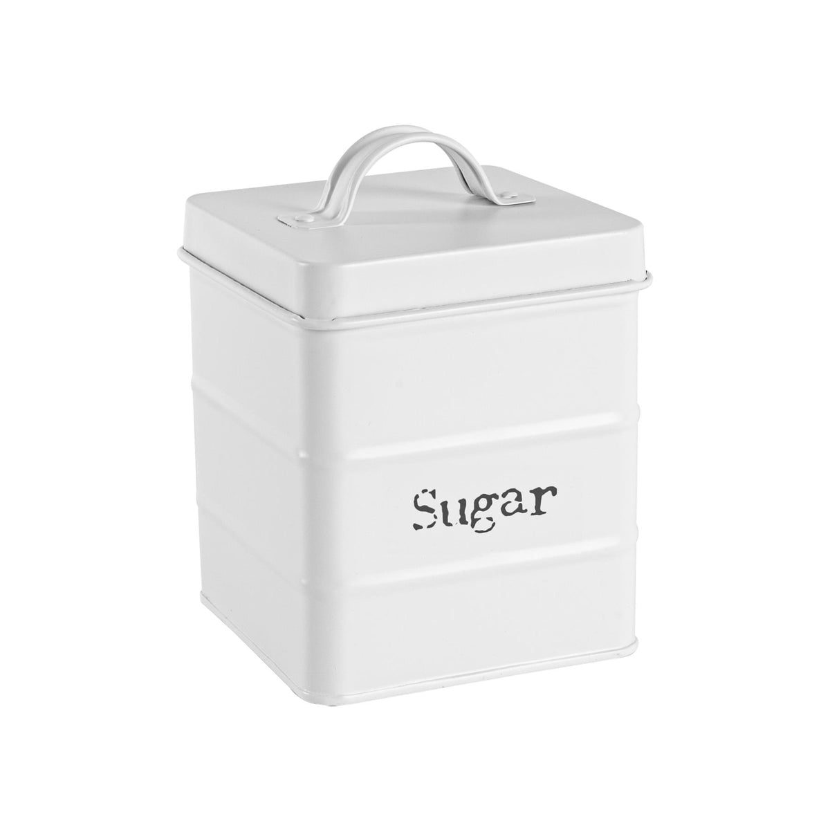 Harbour Housewares Vintage Sugar Storage Canister - Matte White