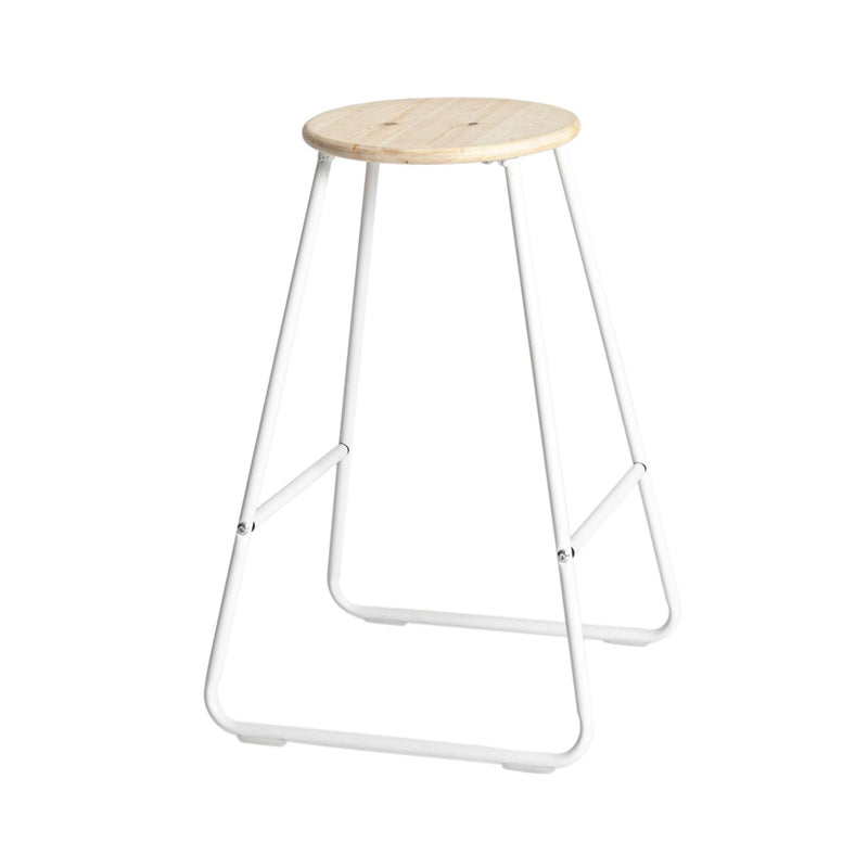 Harbour Housewares Wooden Bar Stool - White / Pine