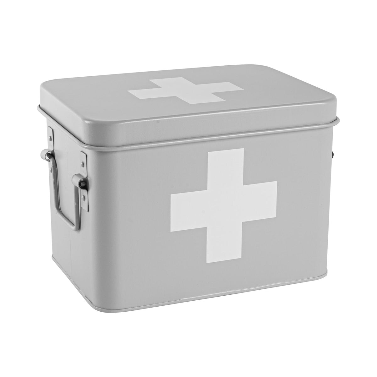 Harbour Housewares Vintage First Aid Storage Canister - Grey