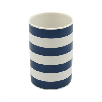 Harbour Housewares Ceramic Toothbrush Holder - Blue and White