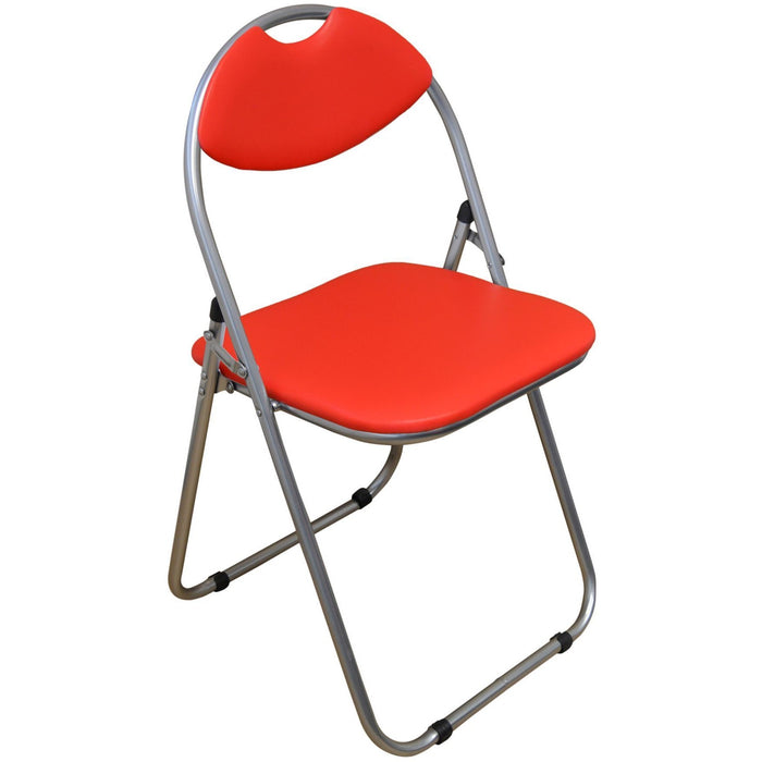 Harbour Housewares Red Padded, Folding, Desk Chair