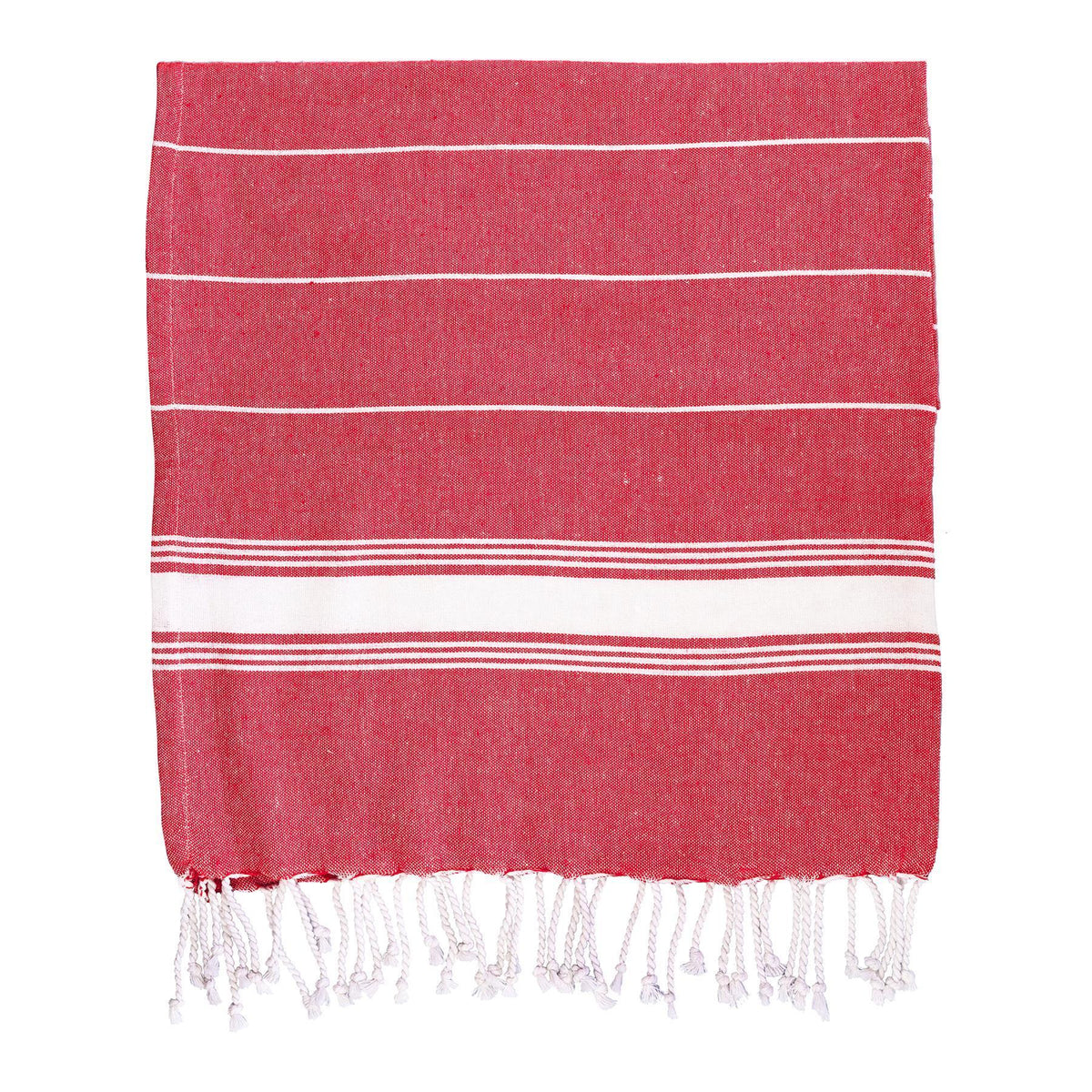 Nicola Spring Turkish Beach Towel - Red