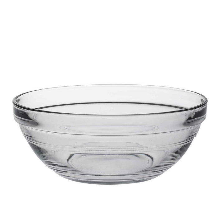 Duralex Lys Clear Stacking Glass Food Bowl - 140mm