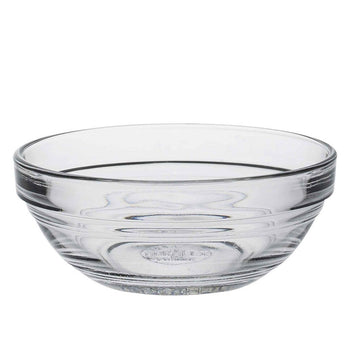 Duralex Lys Clear Stacking Glass Food Bowl - 90mm