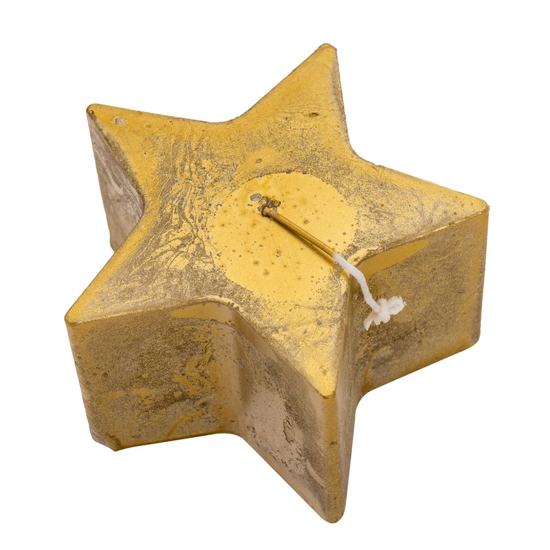 Nicola Spring Star Shaped Metallic Candle - Gold - 75hr