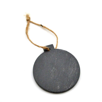 Nicola Spring Christmas Tree Hanging Slate Decoration - Bauble Design