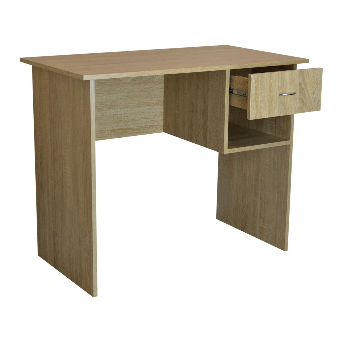 Harbour Housewares Wooden Office Computer Workstation Desk - Natural