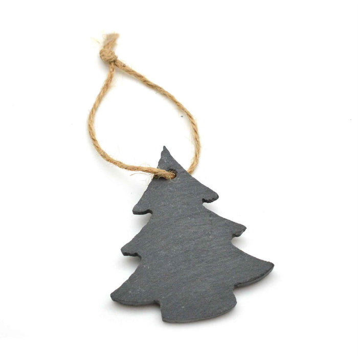 Nicola Spring Christmas Tree Hanging Slate Decoration - Christmas Tree Design