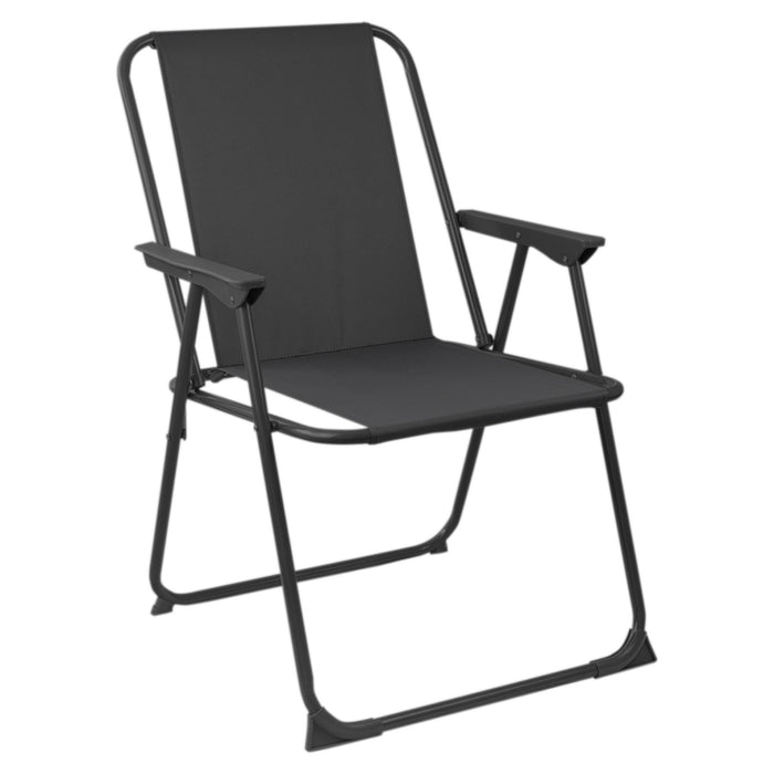Harbour Housewares Folding Garden Armchair - Grey