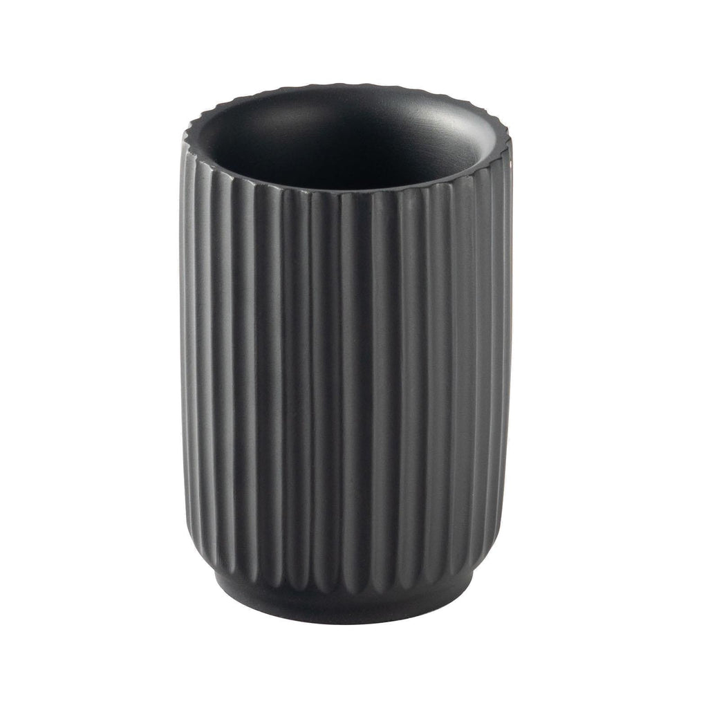 Harbour Housewares Toothbrush Holder - Concrete - Black