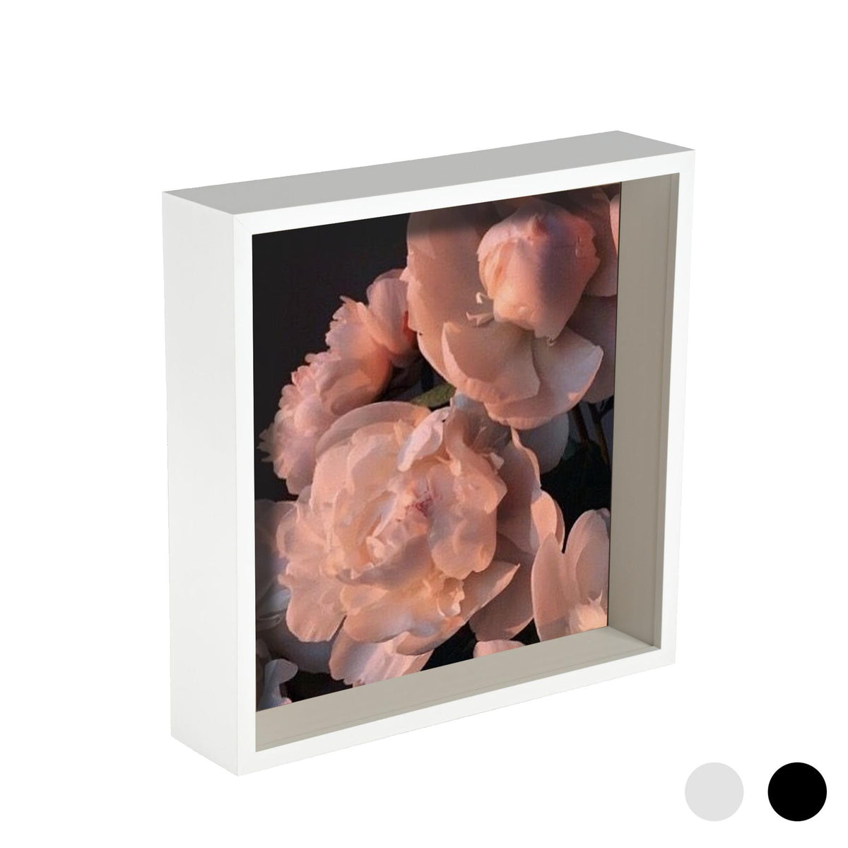 Nicola Spring Deep Box Photo Frame - 10 x 10 - White