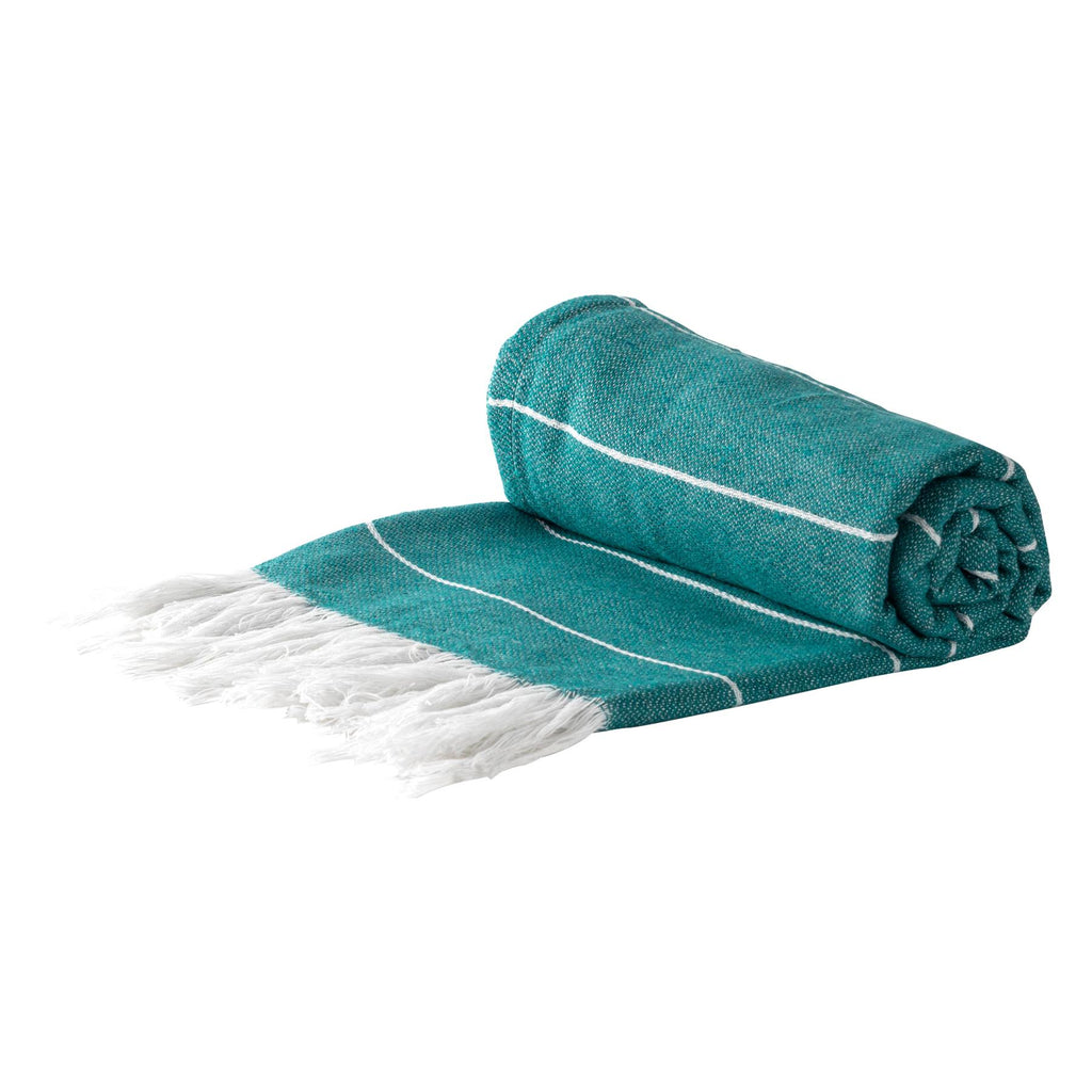 Nicola Spring 100% Turkish Cotton Beach Bath Towel - Aqua