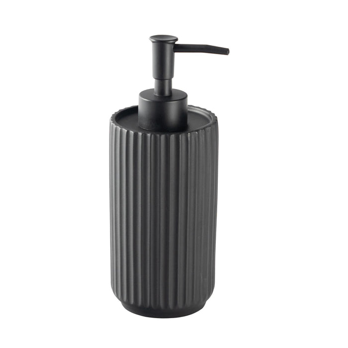Harbour Housewares Liquid Soap Dispenser - Concrete - Black