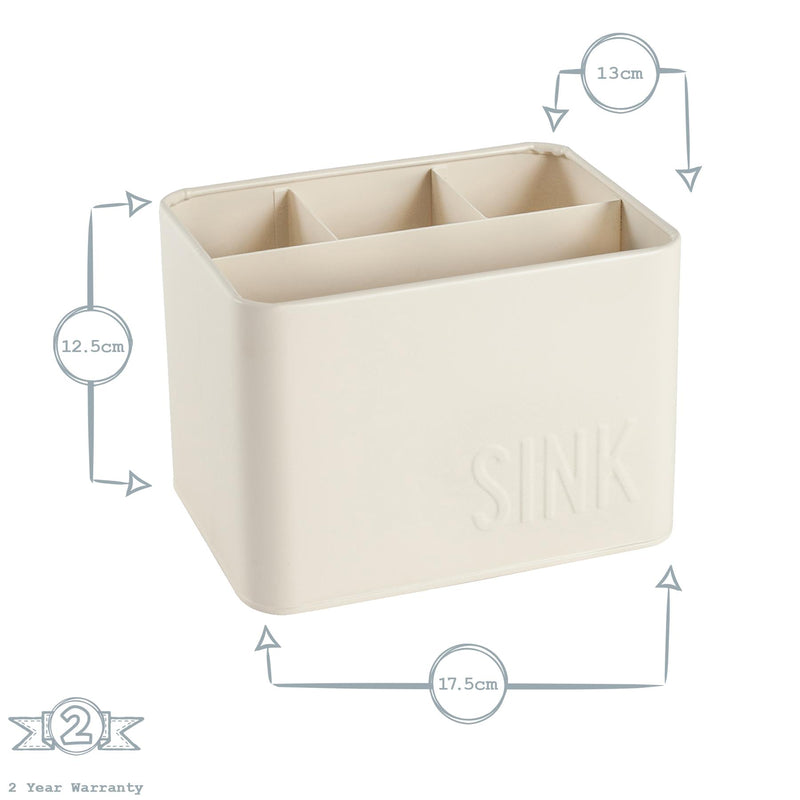 Harbour Housewares Easy Sink Tidy Storage Unit - Cream