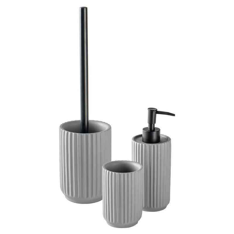 Harbour Housewares Toilet Brush and Holder Set - Concrete - Grey