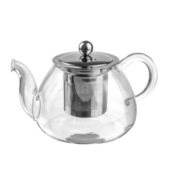 Argon Tableware Clear Glass Infuser Teapot - 700ml