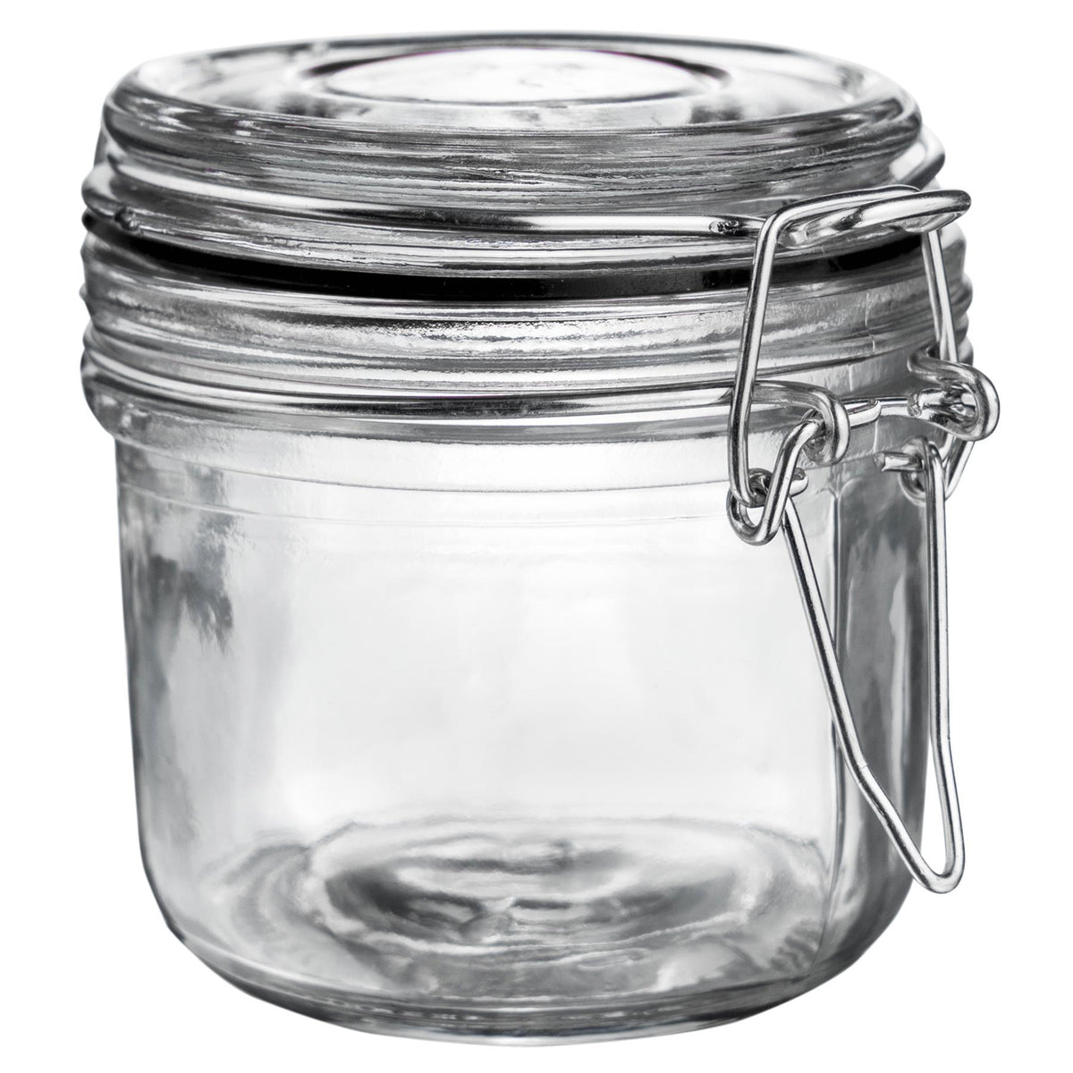 Argon Tableware Glass Storage Jar - 200ml - Black Seal