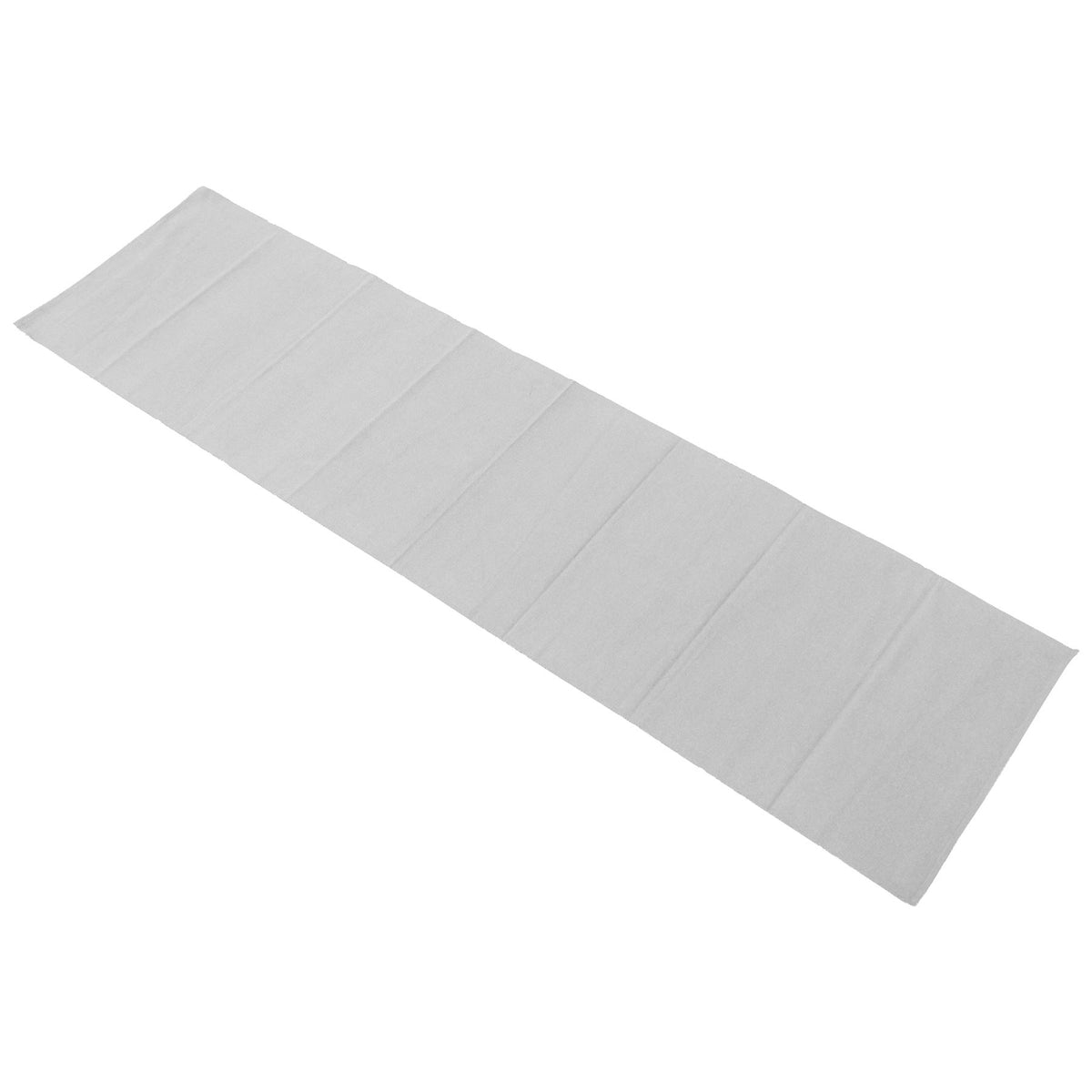 Nicola Spring Ribbed Cotton Dining Table Runner - 183cm - Grey