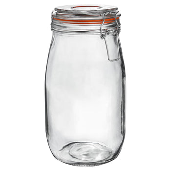Argon Tableware Preserving / Biscuit Glass Storage Jar - 1500ml Argon Tableware Preserve Jars