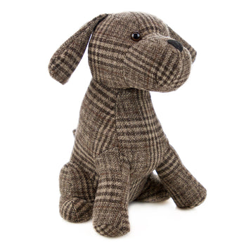 Nicola Spring Milo the Dog Fabric Household Door Stop - Brown